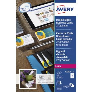 Visitekaart Avery C32026-25 2-zijdig 270gr 250stuks