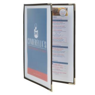 Menukaart Securit A4 2-delig Voor 4 Pagina's Transparant