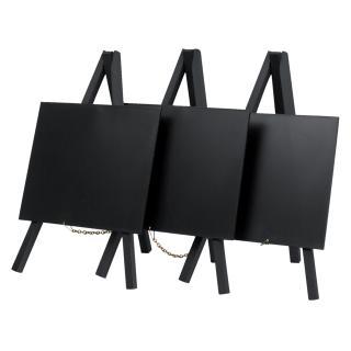 Krijtbord Securit Mini 3-poot 26×15.5×1.3cm Zwart Hout