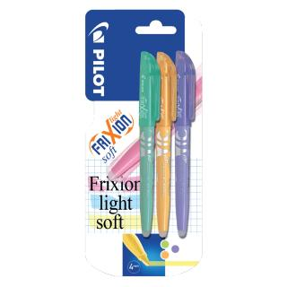Markeerstift PILOT Frixion Soft Groen, Oranje, Paars In Blis