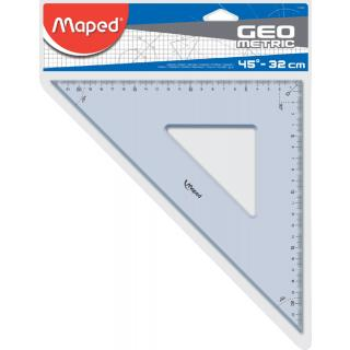 Geodriehoek Maped 45gr 32cm