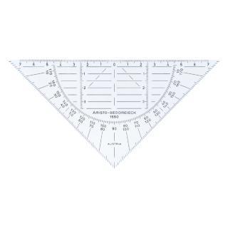 Geodriehoek Aristo 1550 160mm Flexibel Transparant
