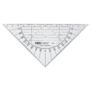 Geodriehoek M+R 2316 160mm Transparant