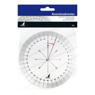 Koershoekmeter Kangaro Kunststof 126mm Transparant