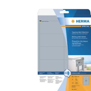 Etiket Herma 4223 96×50.8mm Folie Zilver 250stuks