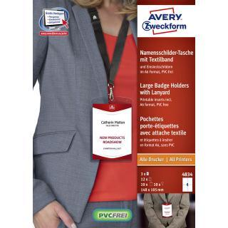 Badge Avery 4834 A6 Hoes + Insteekkaarten 10 Stuks