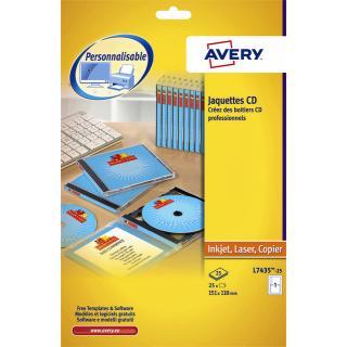 Cd Inlegkaart Avery L7435-25
