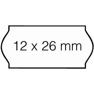 Prijsetiket 12x26mm Open-Data C6 Afneembaar Wit