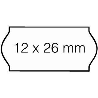 Prijsetiket 12x26mm Sato Samark Permanent Wit
