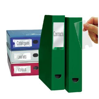 Etikethouder 3L 10320 35x75mm PP Zelfklevend