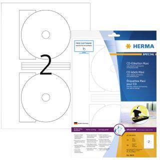 Etiket Herma 8624 CD 116mm Wit Opaqua 20stuks