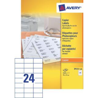 Etiket Avery DP247-100 70x37mm Kopieren 2400stuks