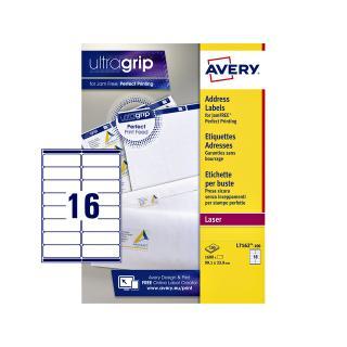 Etiket Avery L7162-100 99.1×33.9mm Wit 1600stuks