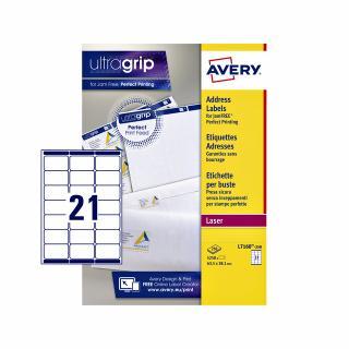 Etiket Avery L7160-250 63.5×38.1mm Wit 5250stuks