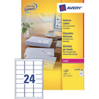 Etiket Avery L7159-40 63.5×33.9mm Wit 960stuks