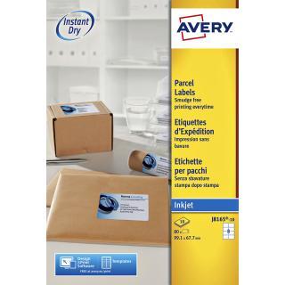 Etiket Avery J8165-10 99.1×67.7mm Wit 80stuks