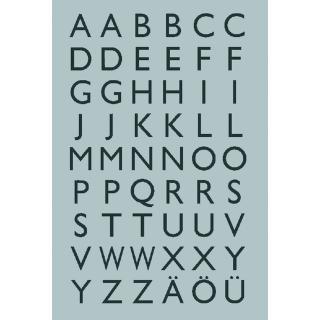 Etiket Herma 4133 13x12mm Letters A-Z Zwart Op Zilver