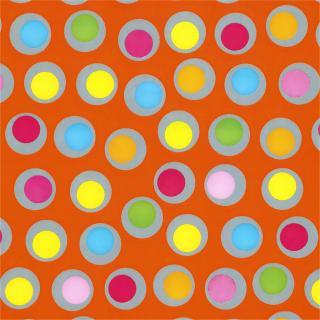 Apparaatrol Brightsummer Bolletjes Oranje 200mx30cm