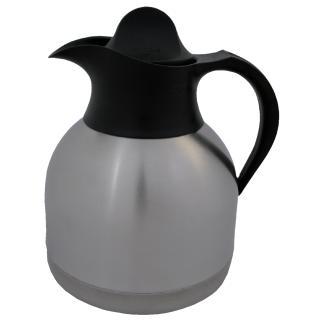 Thermoskan Koffiekan 1liter Roestvrijstaal Zwarte Dop