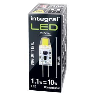 Ledlamp Integral GU4 12V 1.1W 2700K Warm Licht 100lumen