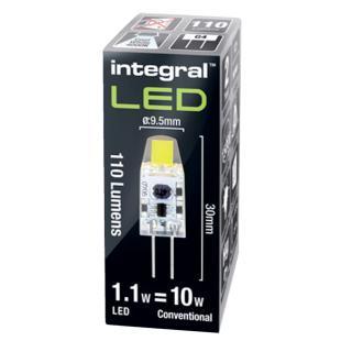 Ledlamp Integral GU4 12V 1.1W 4000K Koel Licht 110lumen