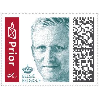 Postzegel Belgie Prior Zelfklevend 100 Stuks