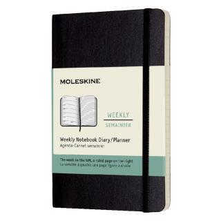 Agenda 2021  Moleskine 12mnd Pocket Soft Zwart