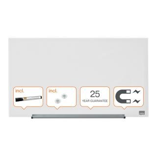 Glasbord Nobo Widescreen 67,7×38,1cm Briljant Wit