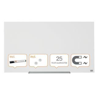 Glasbord Nobo Widescreen 99,3×55,9cm Briljant Wit