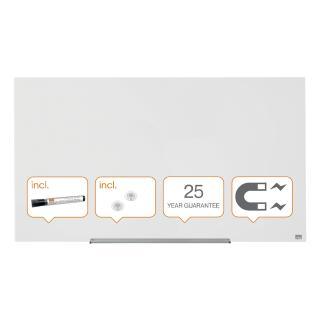 Glasbord Nobo Widescreen 126×71,1cm Briljant Wit