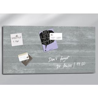 Glasbord Sigel Magnetisch 910x460x15mm Beton Design