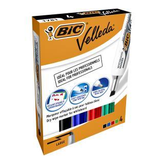 Viltstift Bic 1781 Whiteboard Schuin Ass 3.2-5.5mm Set à 4st